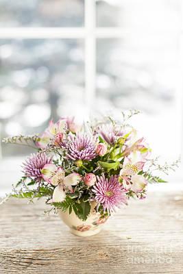 Pink Chrysanthemums Photograph - Flowers In Vase by Elena Elisseeva