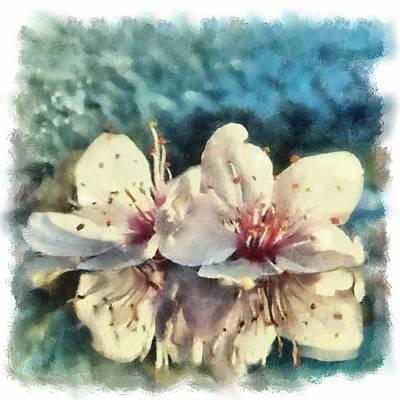 Flowers In Water Art Print by Desmond De Jager