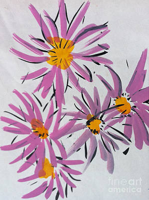 Painting - Flowers by Michelle Deyna-Hayward