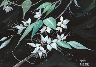 Anil Nene Painting - Flowers N Petals by Anil Nene