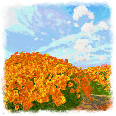 Digital Art - Flowers Near The Water... by Tim Fillingim