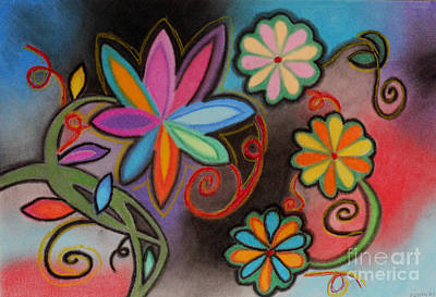Flowers Of Dreams Art Print by Christine Perry