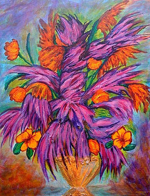 Flowers Of Passion Art Print by Phoenix The Moody Artist