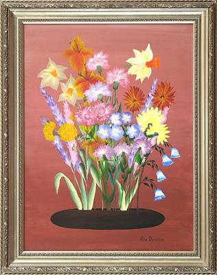 Painting - Flowers Of The Year by Ron Davidson