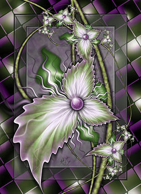 Digital Art - Flowers On Glass by Karla White