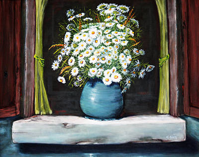 Painting - Flowers On The Ledge by Catherine Link