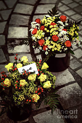 Buy Photograph - Flowers On The Market In France by Elena Elisseeva