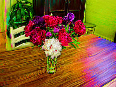 Prismatic Painting - Flowers On The Table by Bruce Nutting