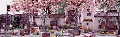 Flowers On Tombstones, Tirol, Austria Art Print by Panoramic Images