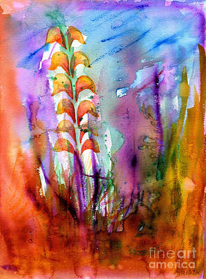 Painting - Flowers Orange by Mukta Gupta