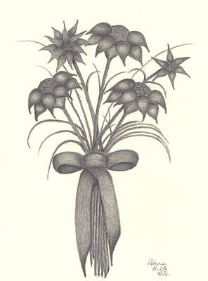 Art Print featuring the drawing Flowers by Patricia Hiltz