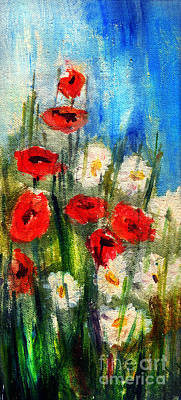 Painting - Flowers - Poppy's Flower by Daliana Pacuraru