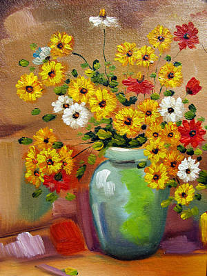 Painting - Flowers - Still Life by Daliana Pacuraru