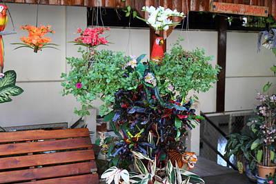 Flowers - Wat Phrathat Doi Suthep - Chiang Mai Thailand - 01132 Print by DC Photographer