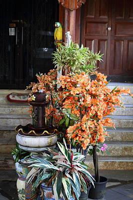 Phrathat Photograph - Flowers - Wat Phrathat Doi Suthep - Chiang Mai Thailand - 01134 by DC Photographer