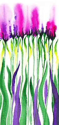 Painting - Flowers Watercolor Decorative Design Fantasy I by Irina Sztukowski