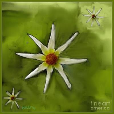 Flowers White Art Print by Nedunseralathan R