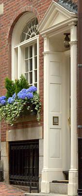 Photograph - Flowers Windows And Doors by Caroline Stella