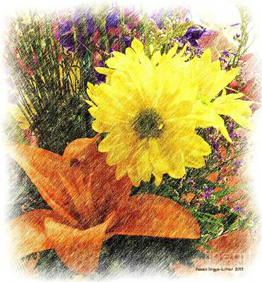 Art Print featuring the photograph Flowers With Love by Luther Fine Art