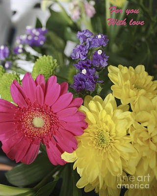 Photograph - Flowers With Love by Terri Waters