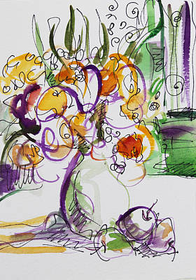 Flowers With Purple Hint Original