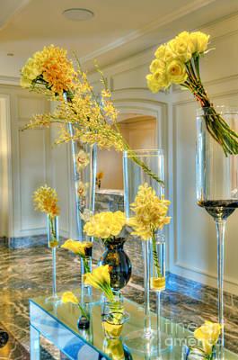Photograph - Flowers Yellow Roses by David Zanzinger