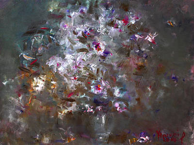 Vase Wall Art - Painting - My Flowers by Ylli Haruni