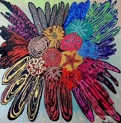 Painting - Flowers Burst By Jasna Gopic by Jasna Gopic