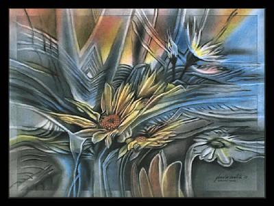 Pastel - Flowerscapeb 2009 by Glenn Bautista