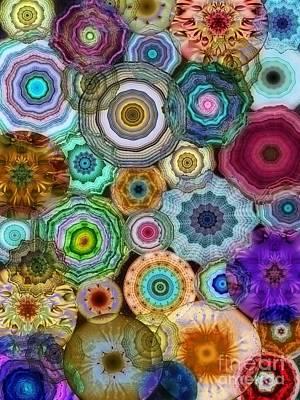 Nature Abstract Digital Art - Flowery Meadow 3 by Klara Acel