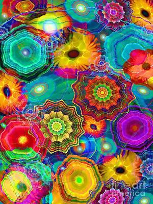 Abstract Digital Art Digital Art - Flowery Meadow by Klara Acel