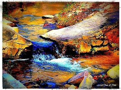 Art Print featuring the photograph Flowing Creek by Tara Potts