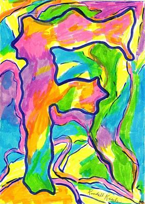 Drawing - Flowing F by Kendall Kessler