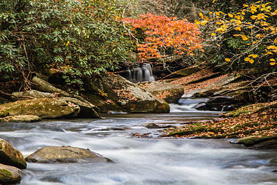 Photograph - Flowing Fall Waters by John Haldane