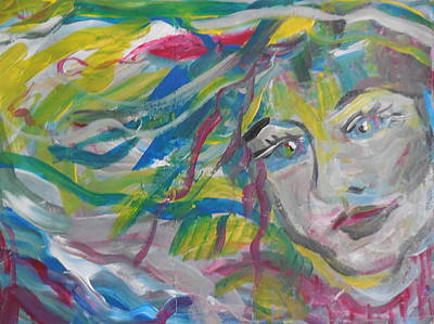 Painting - Flowing Girl by Made by Marley