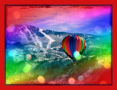 Flowing Rainbow Balloon Art Print by Tracie Howard