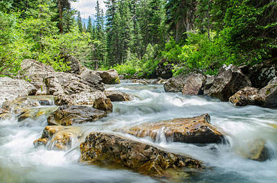 Flowing River Art Print by Mike Schmidt