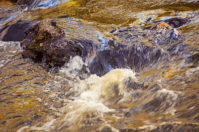 Photograph - Flowing River Rapids by Carolyn Marshall