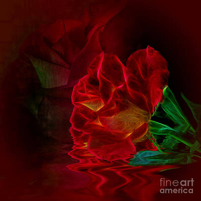 Photograph - Flowing Rose by Shirley Mangini