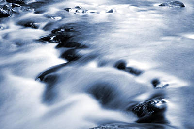 Abstract Movement Photograph - Flowing Stream by Les Cunliffe
