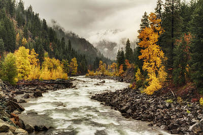 Flowing Through Autumn Art Print by Mark Kiver