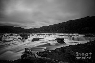 Photograph - Flowing Water Of Sandstone Falls  by Dan Friend