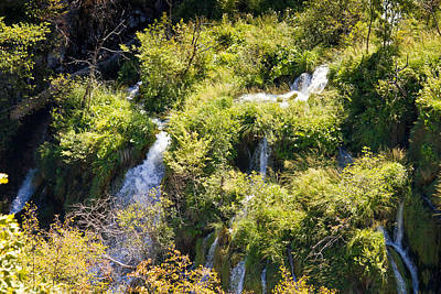 Photograph - Flowing Water On Falling Lakes Of Plitvice by Brch Photography