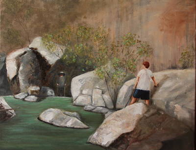 Painting - Flowing Waters by DG Ewing