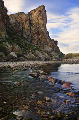 Red Photograph - Flowing Waters Of The Salt River by Dave Dilli