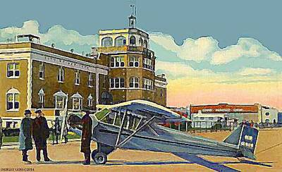 Painting - Floyd Bennett Field- Brooklyn N Y- 1939 by Dwight Goss