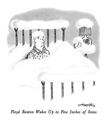Benton Drawing - Floyd Benton Wakes Up To Five Inches Of Snow by Henry Martin
