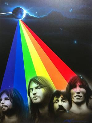 Flower Power Painting - Pink Floyd - ' Floyd ' by Christian Chapman Art