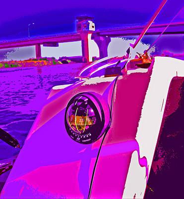 Floyd Pink And Purple Art Print