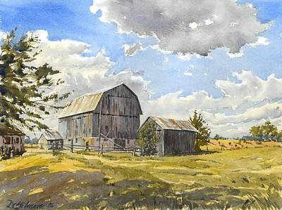 Painting - Floyd's Barn No.1 by David Gilmore